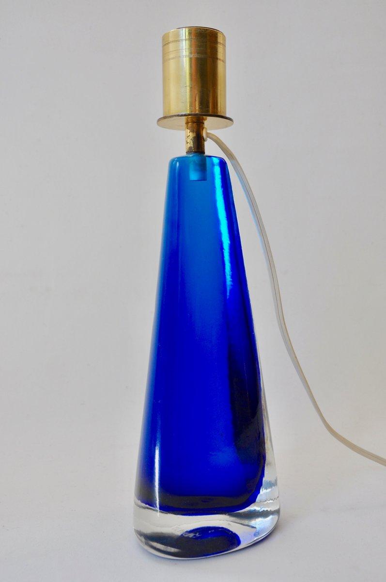 blaue glas tischlampe von venini 1950er bei pamono kaufen. Black Bedroom Furniture Sets. Home Design Ideas