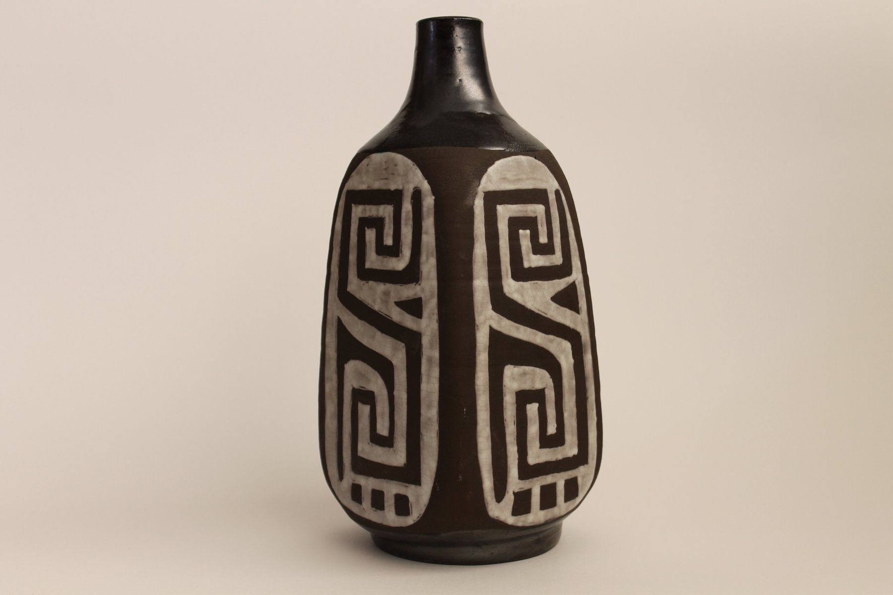 belgian black and white vase from keramar for sale at pamono - belgian black and white vase from keramar