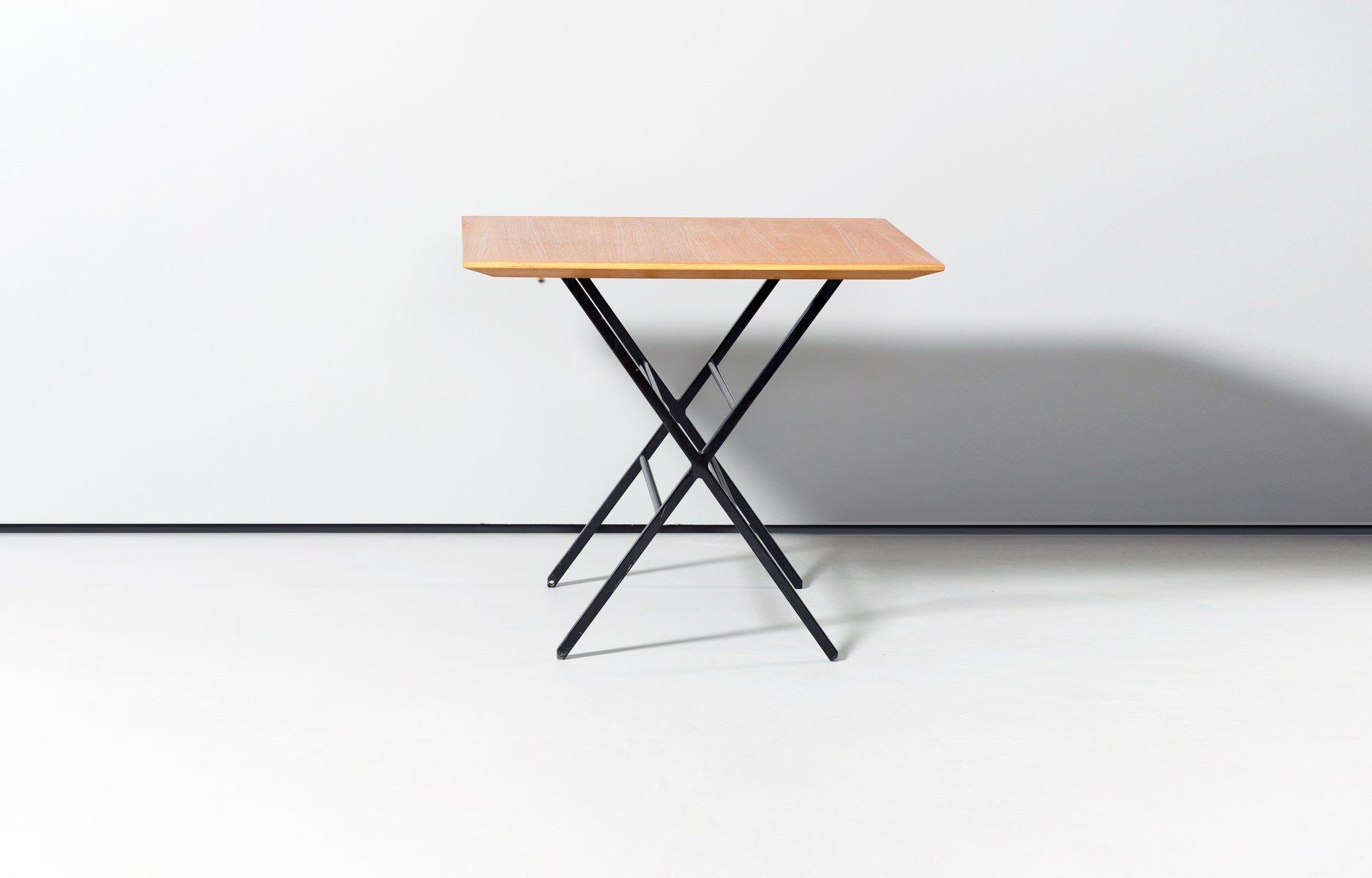 table basse ajustable en placage de teck par charles sevigny pour
