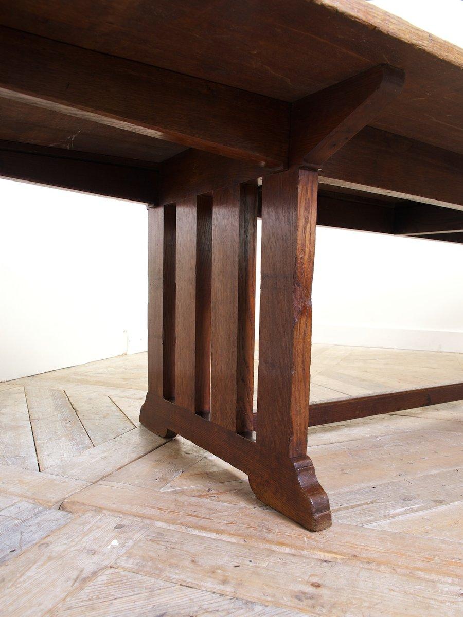 gro er antiker eiche esstisch bei pamono kaufen. Black Bedroom Furniture Sets. Home Design Ideas