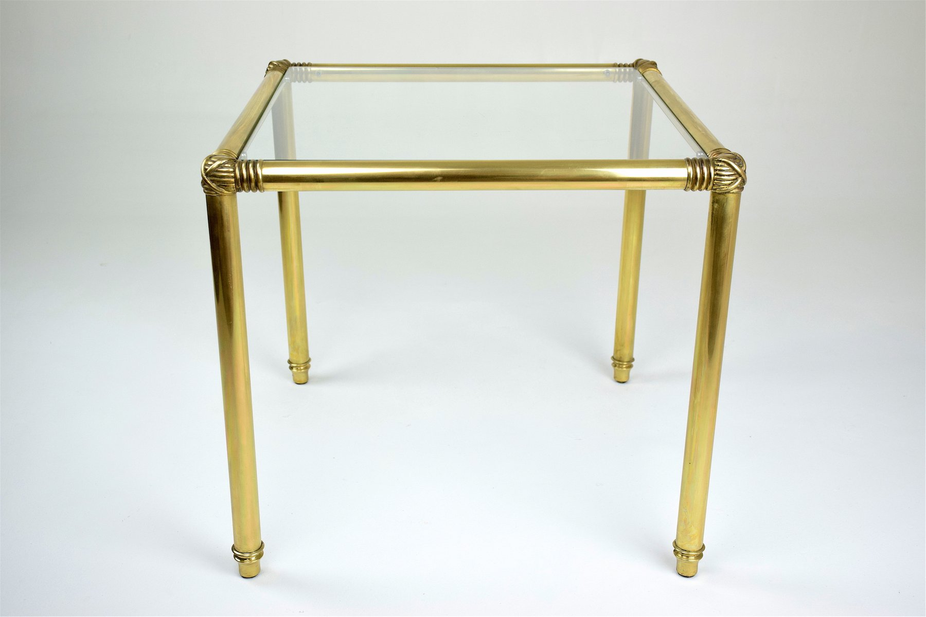 Vintage Polished Brass Coffee Table 1970s for sale at Pamono