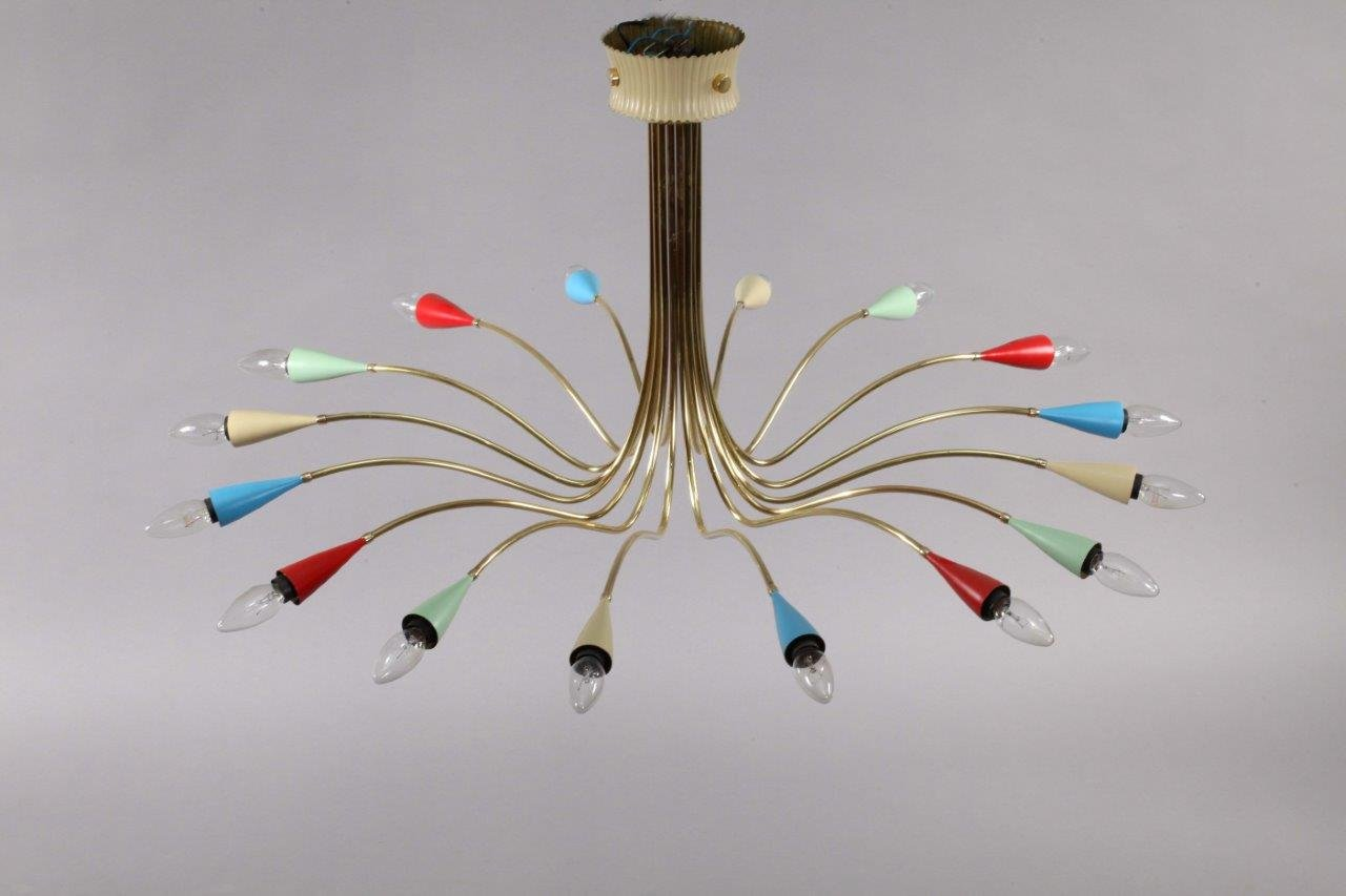 italian colorful sputnik lamp from arredoluce 1950s for. Black Bedroom Furniture Sets. Home Design Ideas