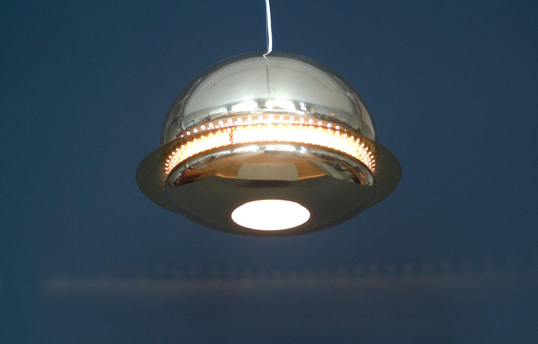 Lampada a sospensione nictea in ottone di tobia scarpa per for Lampada flos sospensione