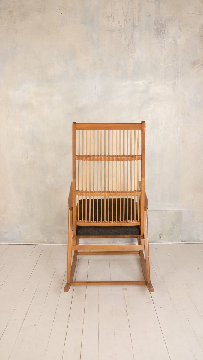 Vintage Wooden Rocking Chair For Sale At Pamono