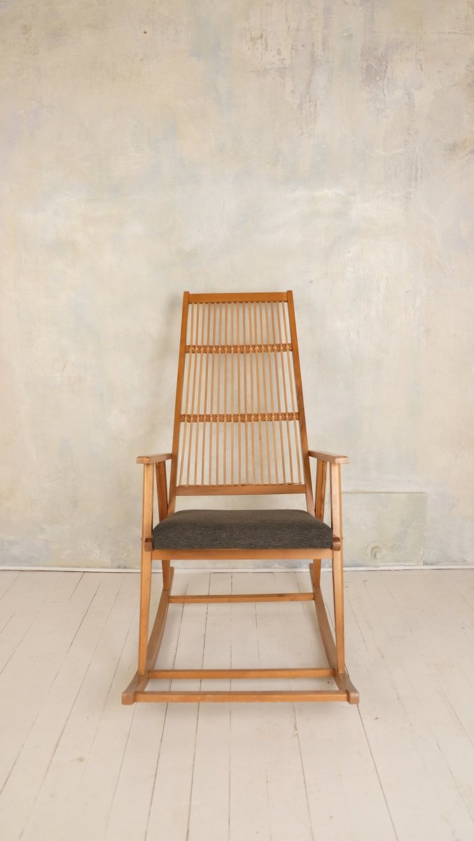 wooden rocking chair. vintage wooden rocking chair