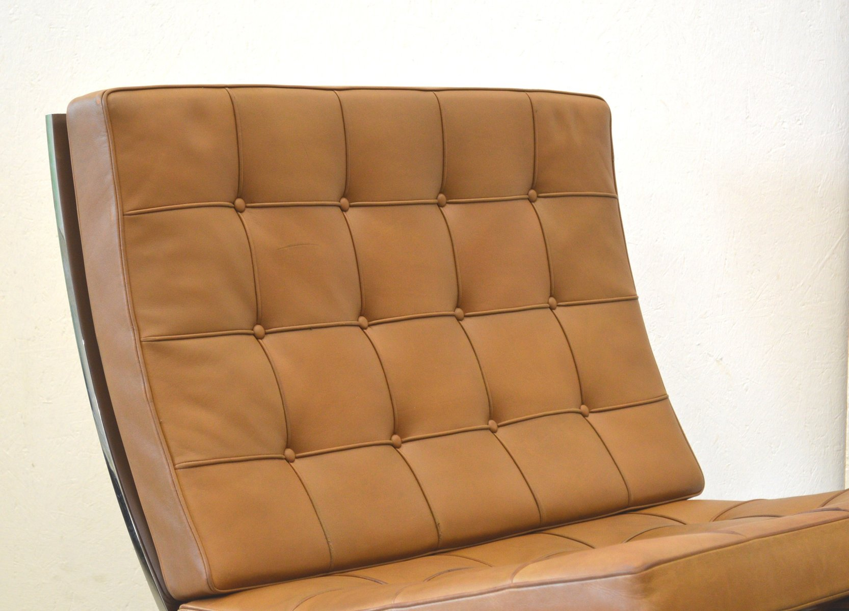 Barcelona chair brown - Vintage Barcelona Chair Ottoman By Mies Van Der Rohe For Knoll International 1960s