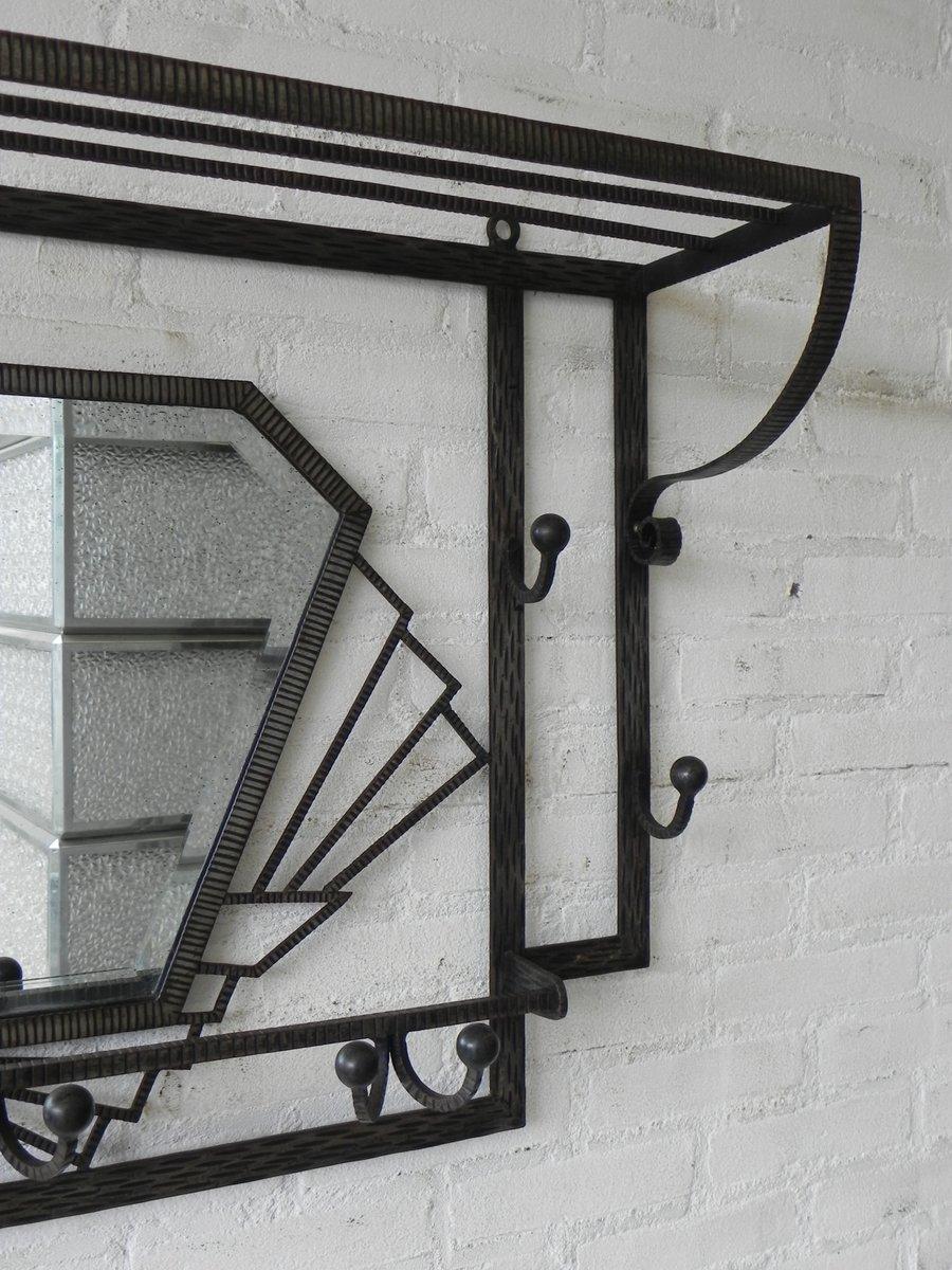 art deco kleiderst nder mit facettenschliff spiegel. Black Bedroom Furniture Sets. Home Design Ideas