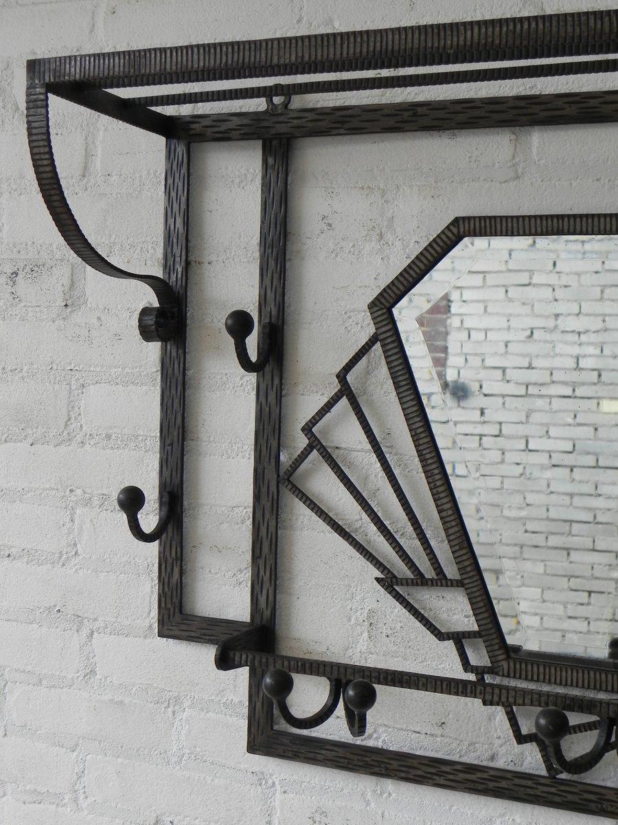 art deco kleiderst nder mit facettenschliff spiegel 1930er bei pamono kaufen. Black Bedroom Furniture Sets. Home Design Ideas