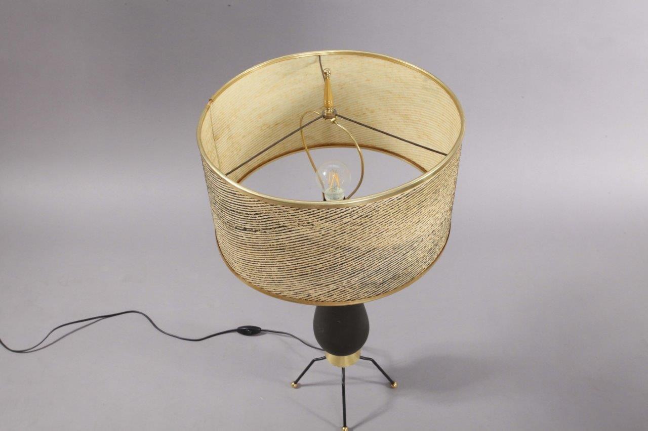 tischlampe mit keramikfu 1960er bei pamono kaufen. Black Bedroom Furniture Sets. Home Design Ideas