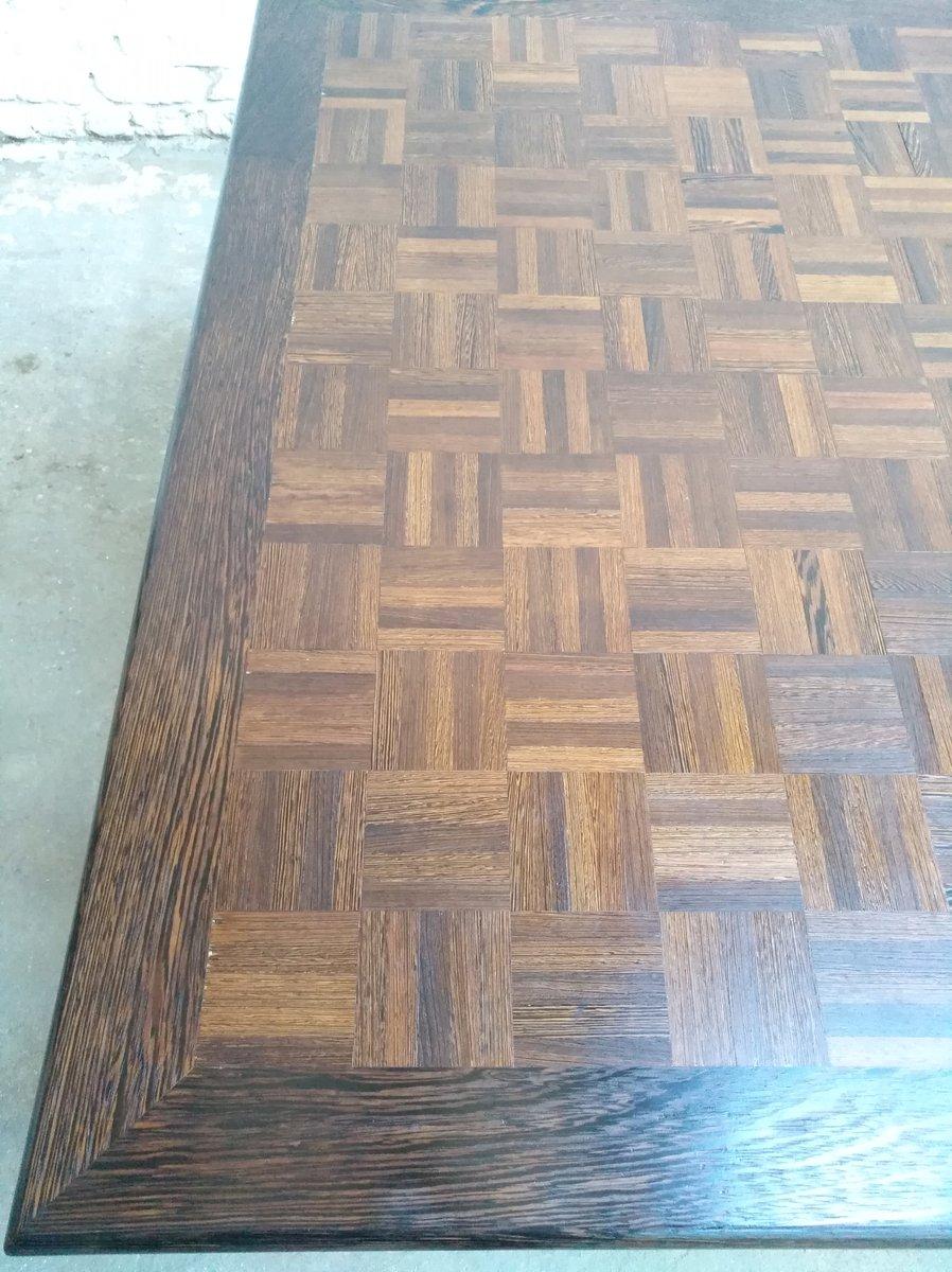 grande table vintage industrielle postmoderne en wenge et. Black Bedroom Furniture Sets. Home Design Ideas