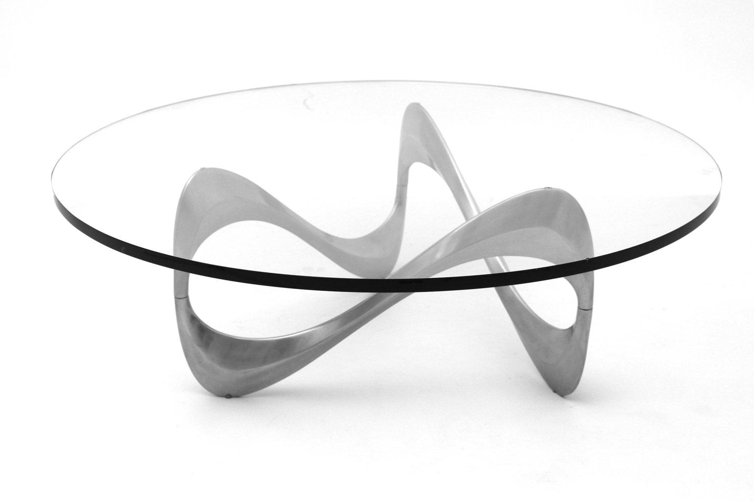 Vintage Aluminum Coffee Table By Knut Hesterberg
