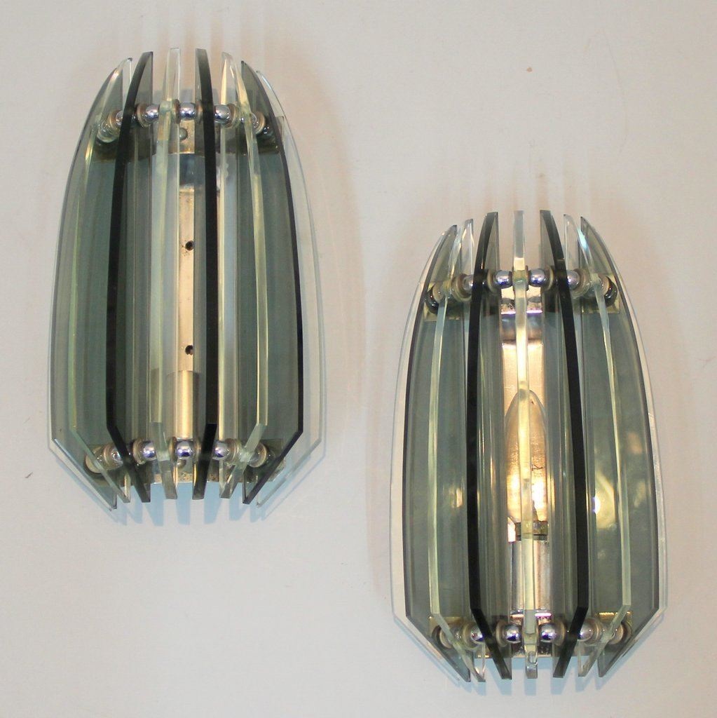 Wall Sconces Set Of 2 : Vintage Wall Sconces from Veca, Set of 2 for sale at Pamono