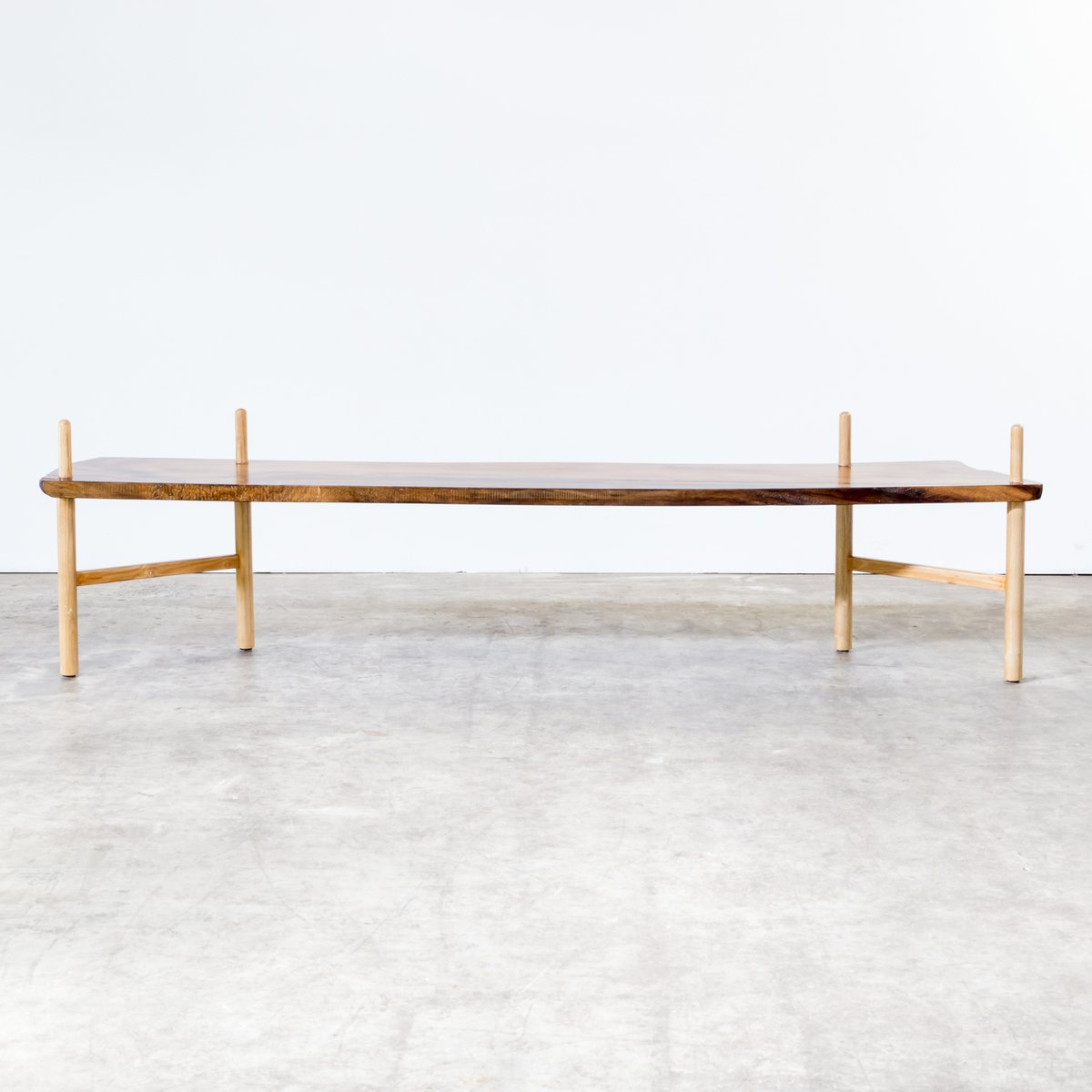 Vintage Walnut Bench For Sale At Pamono
