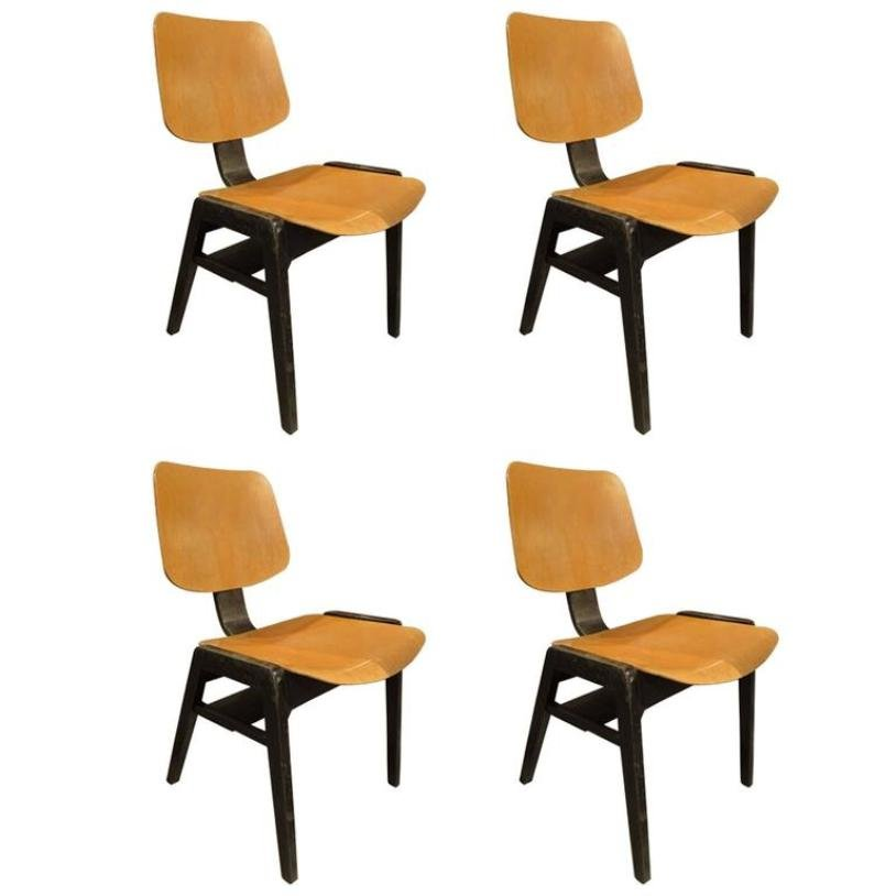 Italian Wooden Chairs 1960 Set Of 4 For Sale At Pamono