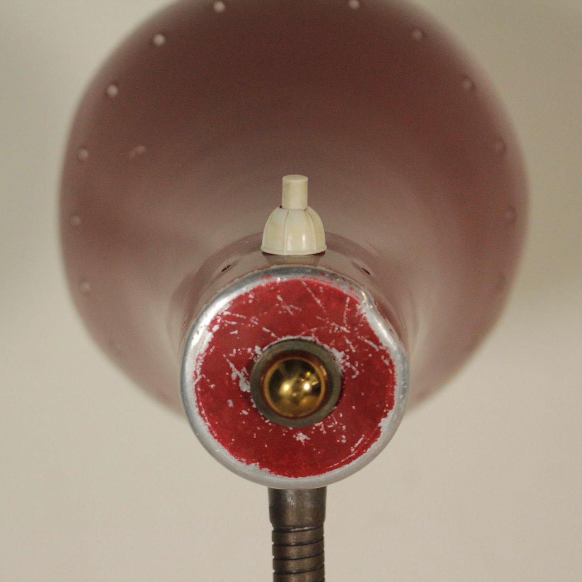 Italian Brass Amp Lacquered Aluminum Floor Lamp With