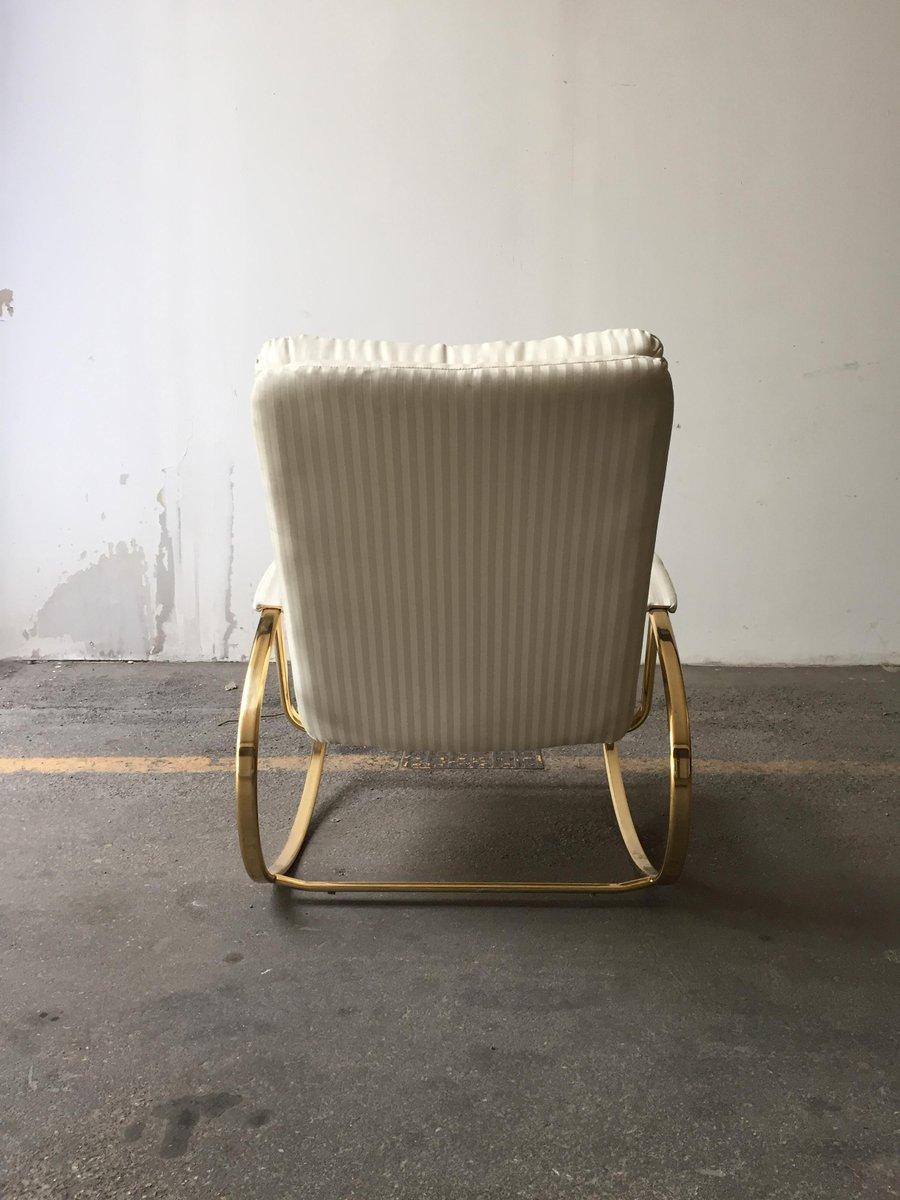 moderner italienischer mid century schaukelstuhl 1970er. Black Bedroom Furniture Sets. Home Design Ideas