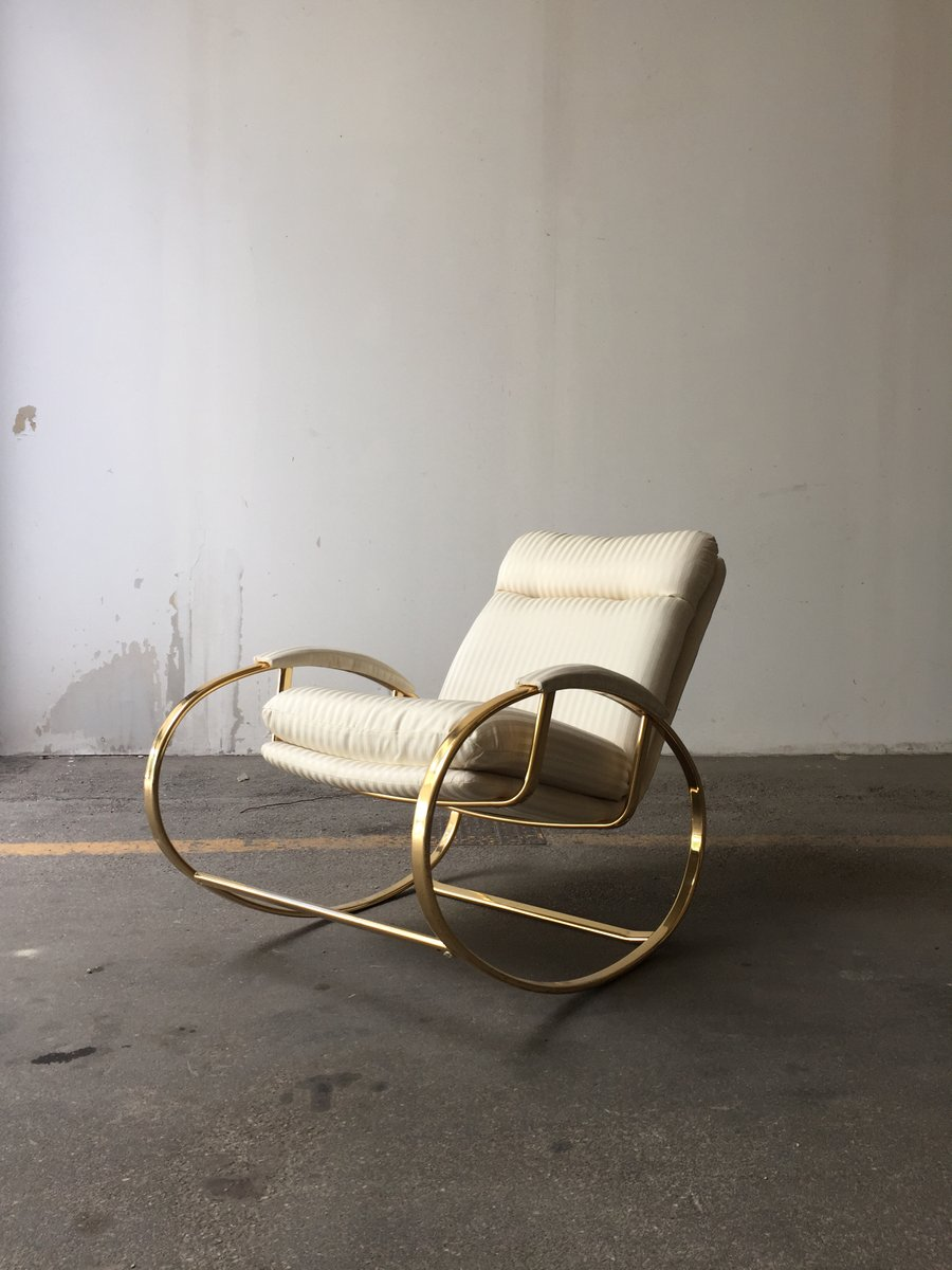 Mid Century Modern Italian Rocking Chair 1970s For Sale At Pamono