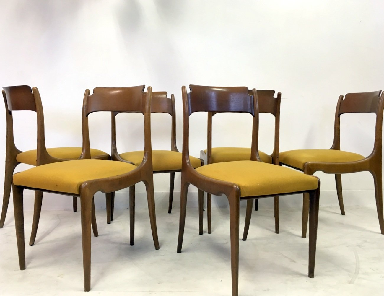 mid century italian dining chairs 1950s set of 6 for sale at pamono mid century italian dining chairs 1950s set of 6