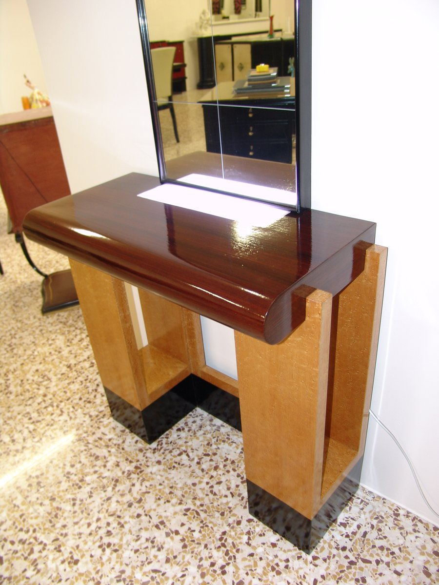 italian art deco console 1930s for sale at pamono. Black Bedroom Furniture Sets. Home Design Ideas