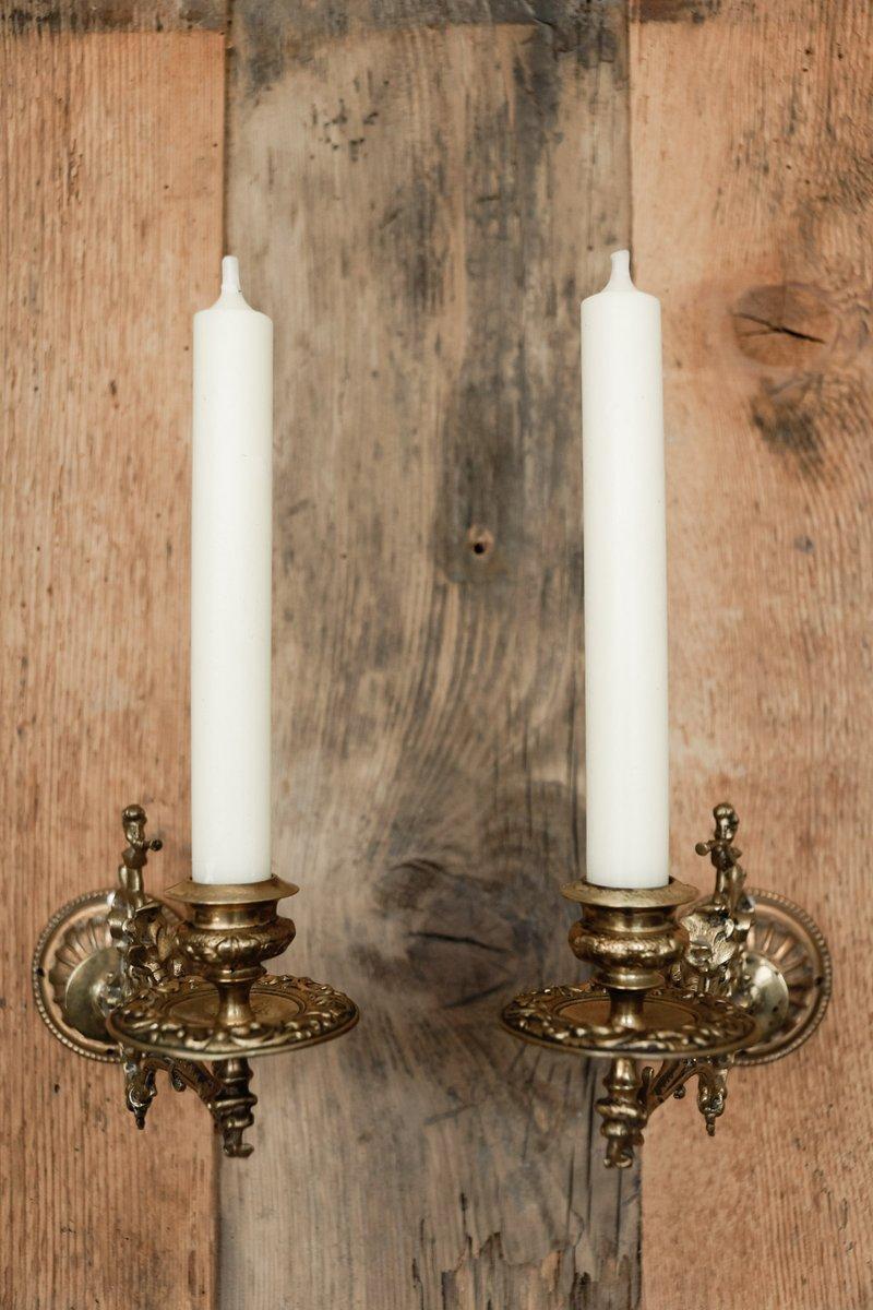 antike wandkerzenhalter 1890er 2er set bei pamono kaufen. Black Bedroom Furniture Sets. Home Design Ideas