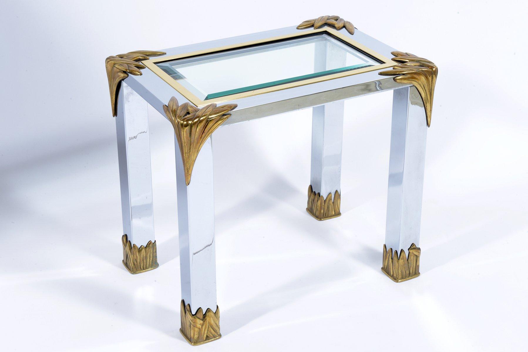 Steel U0026 Brass Side Tables From Banci Firenze, 1960s, Set Of 2