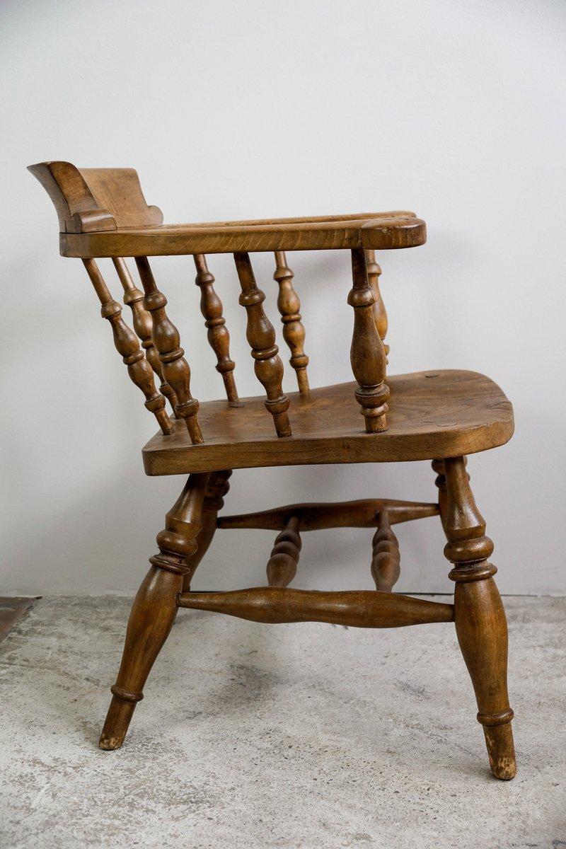 englischer schreibtischstuhl aus eiche 1900er bei pamono. Black Bedroom Furniture Sets. Home Design Ideas