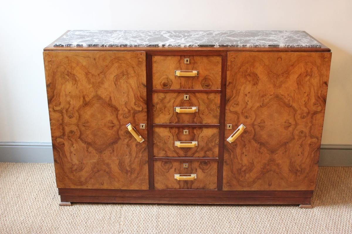spanish art deco walnut sideboard 1920s for sale at pamono. Black Bedroom Furniture Sets. Home Design Ideas