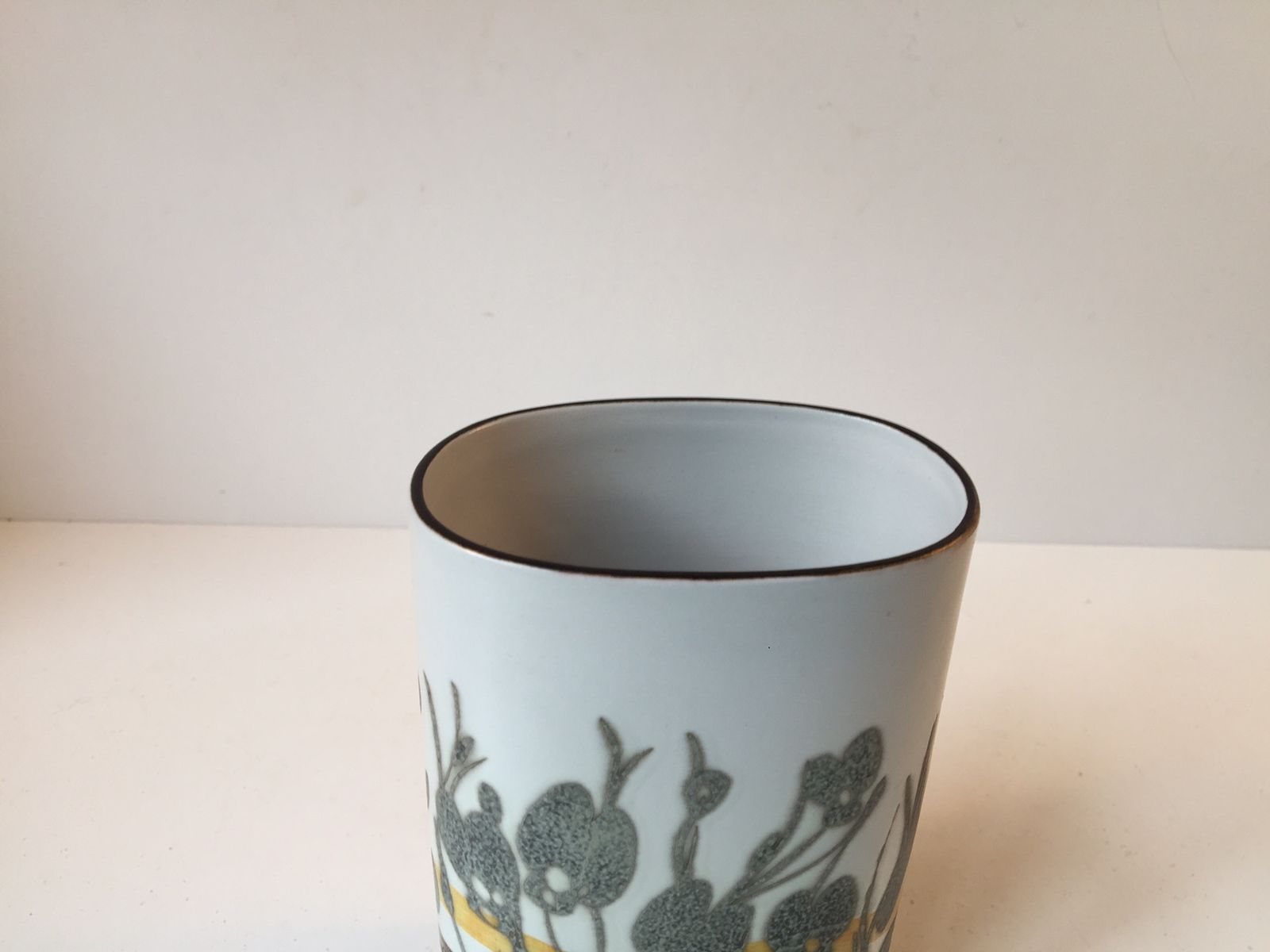 modernist ceramic vase by ivan weiss for royal copenhagen 1970s for sale at pamono. Black Bedroom Furniture Sets. Home Design Ideas