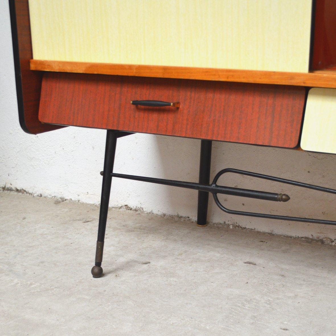 enfilade en formica 1950s en vente sur pamono. Black Bedroom Furniture Sets. Home Design Ideas