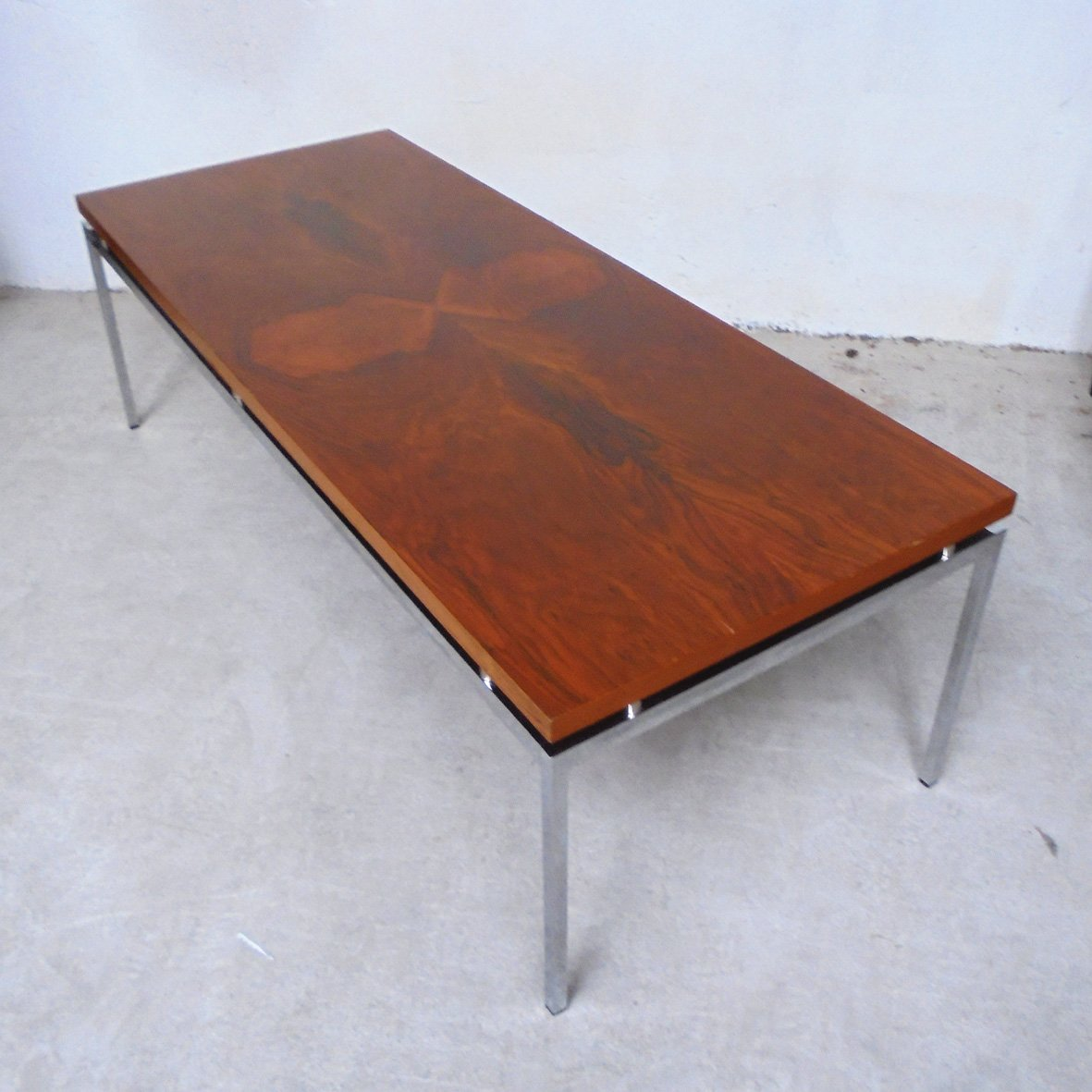 Square Steel Coffee Table Italian C 1970: French Burl Coffee Table, 1970s For Sale At Pamono