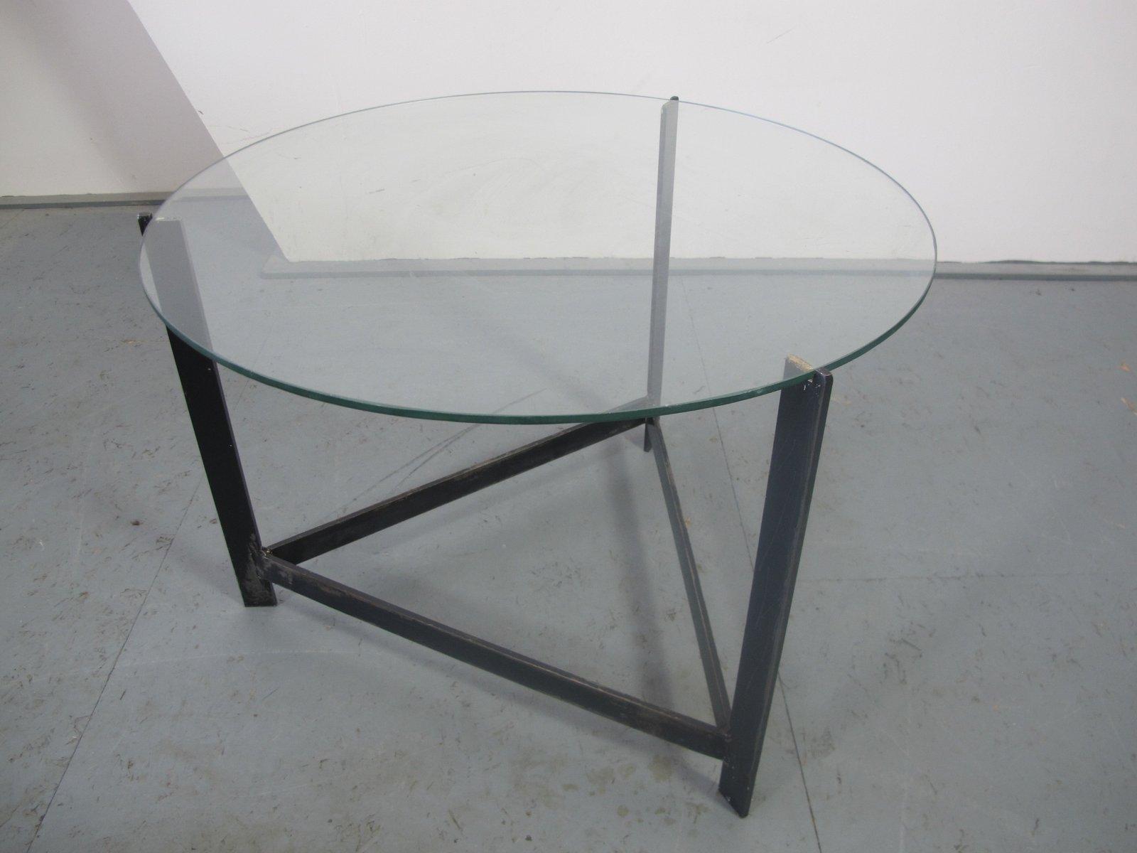 beistelltisch aus stahl glas rattan 1960er bei pamono. Black Bedroom Furniture Sets. Home Design Ideas