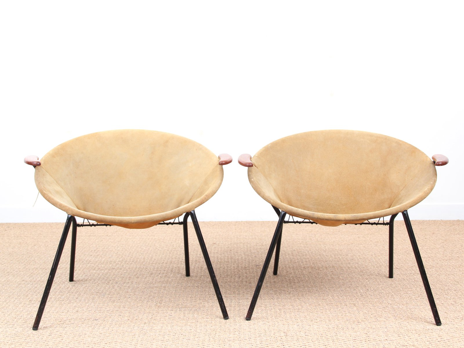 scandinavian balloon chairs by hans olsen 1950s set of 2 for