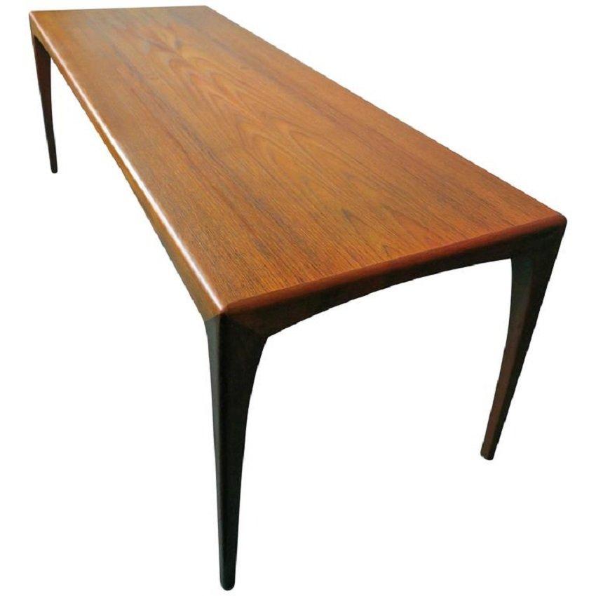 Mid Century Modern Danish Teak Coffee Table, 1960s