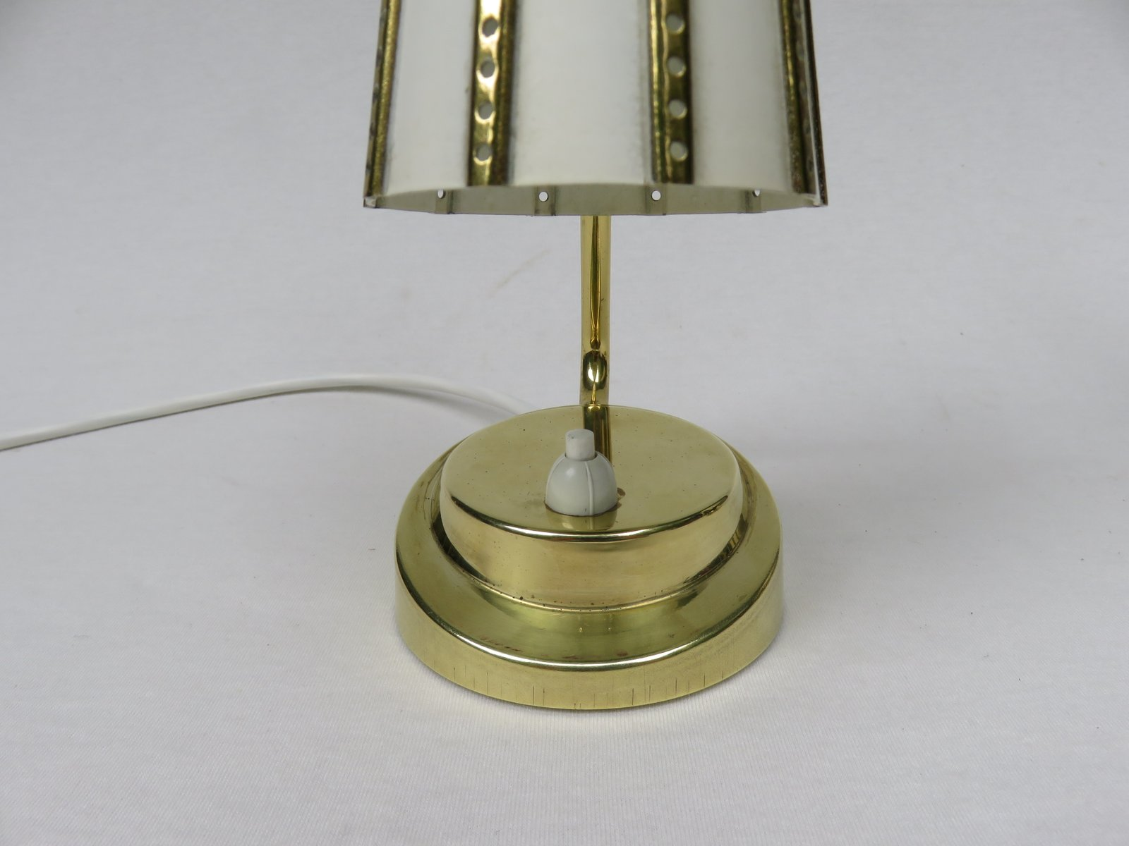 Brass Bedside Wall Lamps : Italian Brass Bedside Lamps, 1950s, Set of 2 for sale at Pamono