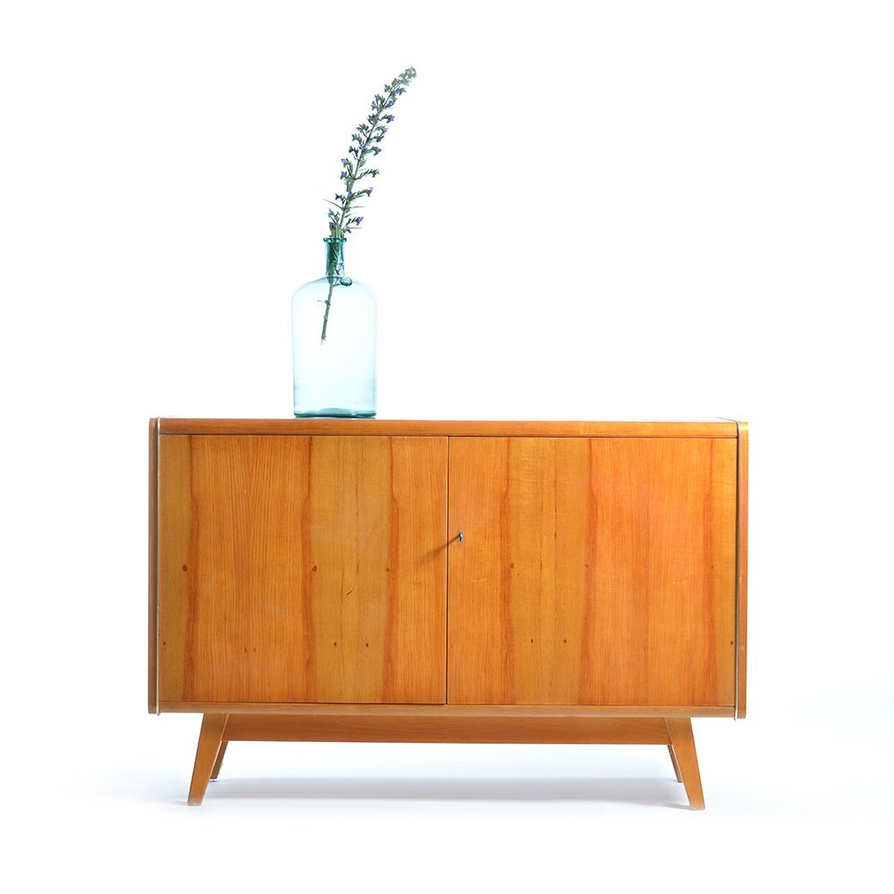 Sideboard with black glass top from jitona 1960s for sale for Sideboard glas