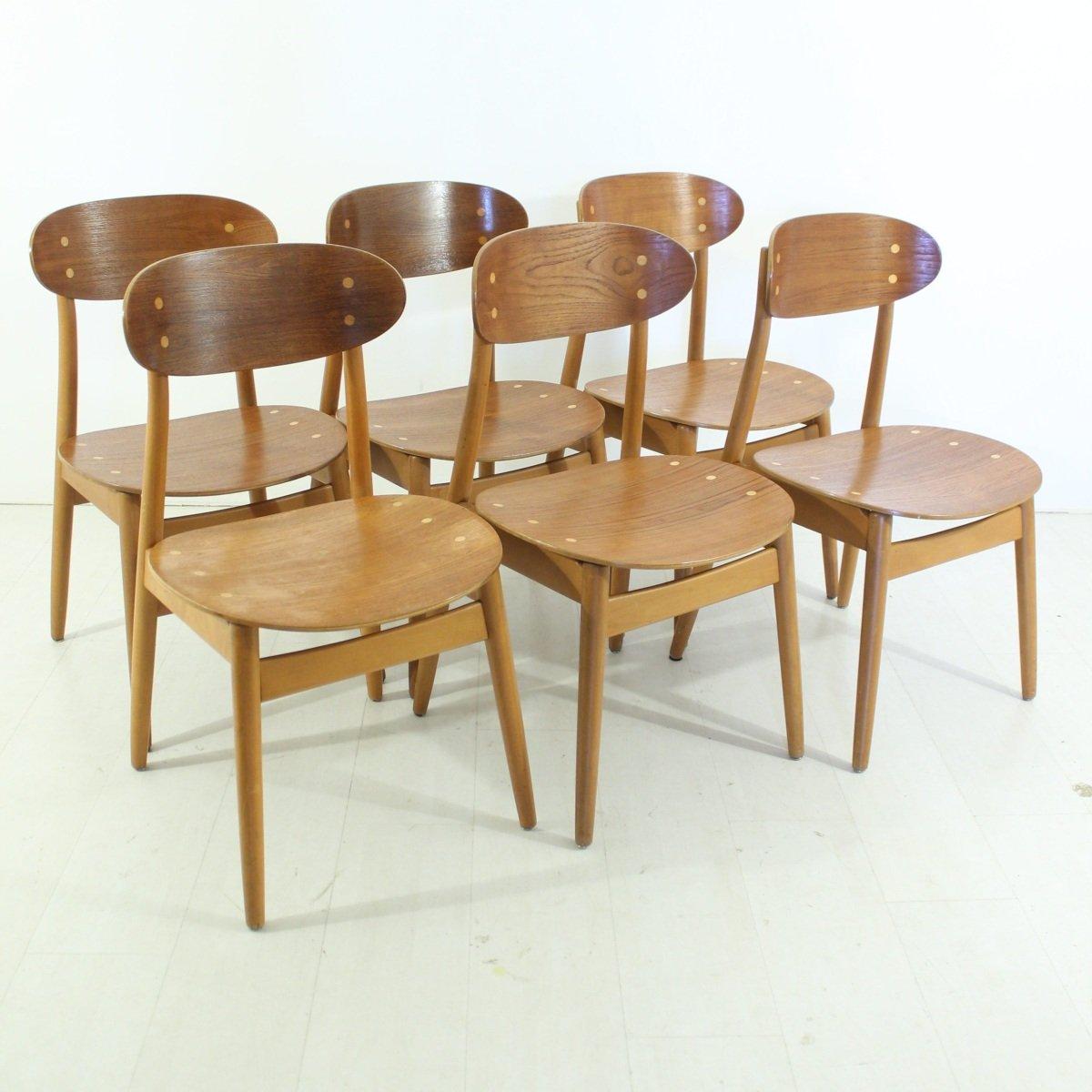 schwedische esszimmerst hle von alf svensson f r hagen fors 6er set bei pamono kaufen. Black Bedroom Furniture Sets. Home Design Ideas
