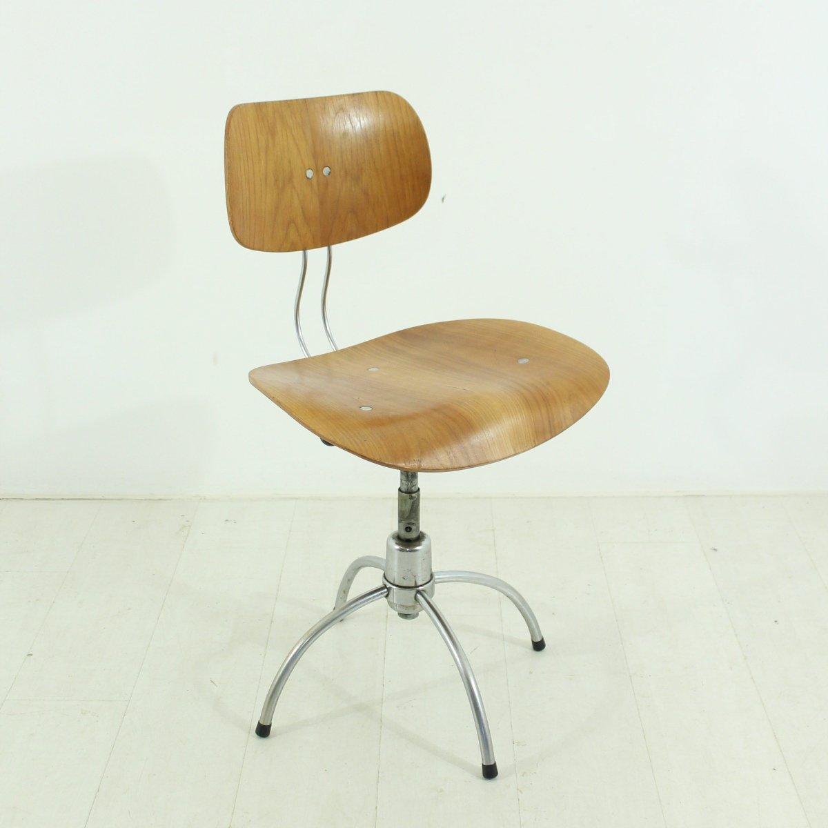 midcentury se  teak office chair by egon eiermann for sale at  - midcentury se  teak office chair by egon eiermann