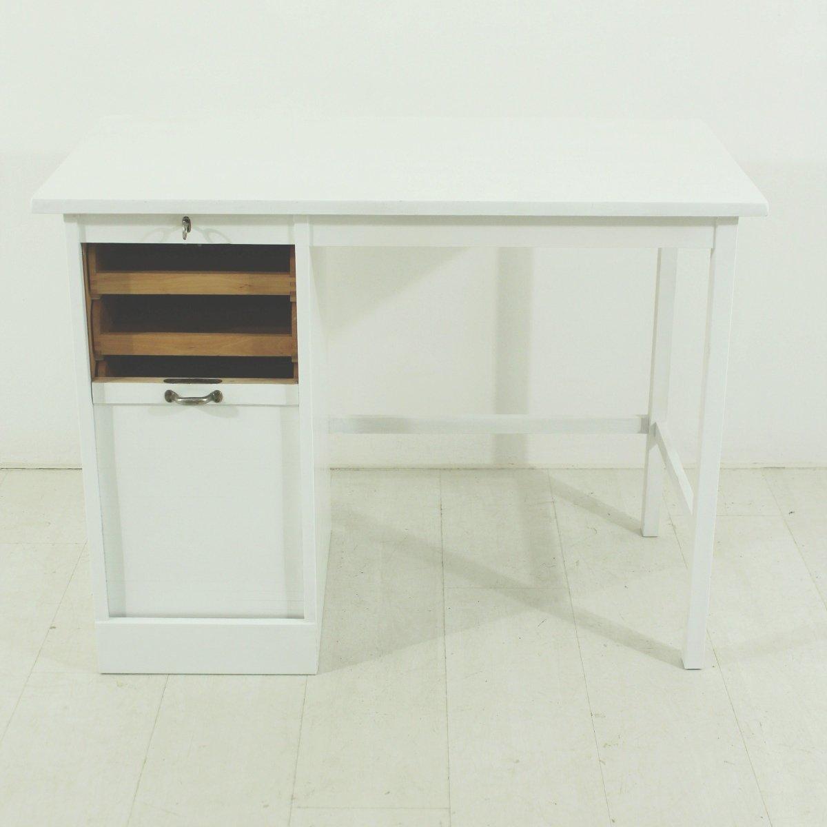 wei er mid century schreibtisch aus buche bei pamono kaufen. Black Bedroom Furniture Sets. Home Design Ideas
