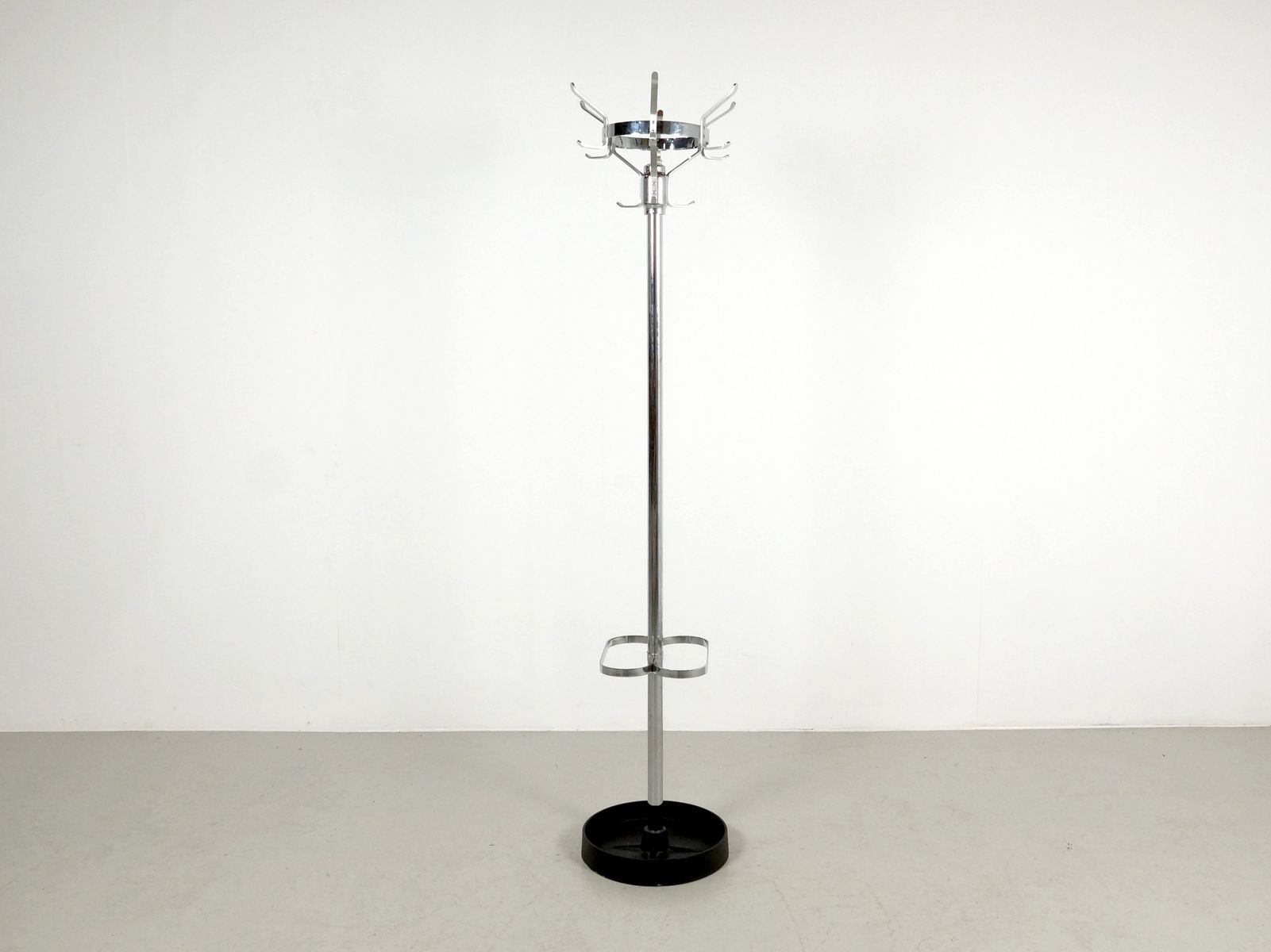 standing coat rack in chrome with umbrella stand s for sale  - standing coat rack in chrome with umbrella stand s