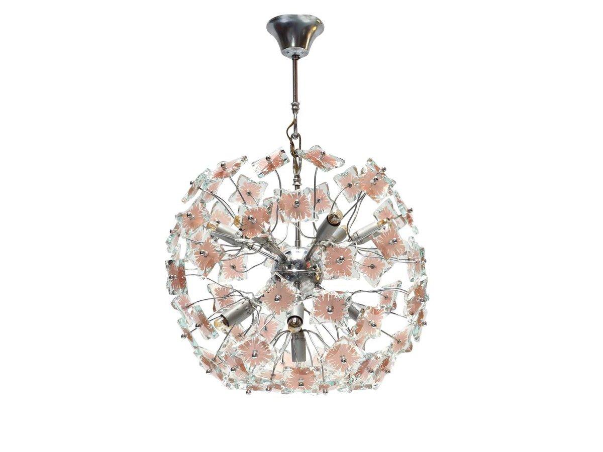 Italian glass sputnik chandelier 1970s for sale at pamono for Sputnik chandelier