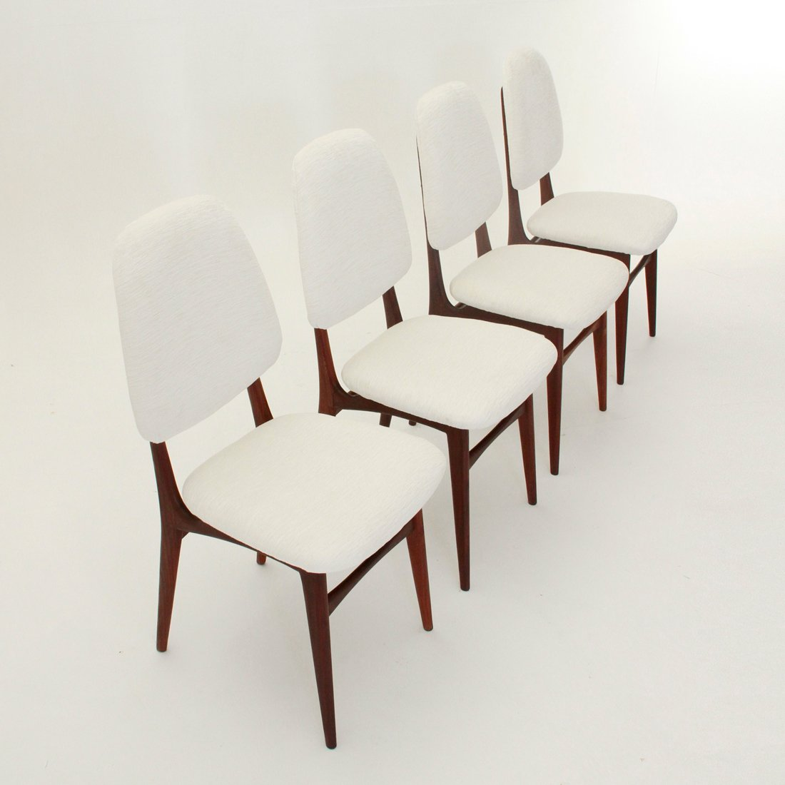 Mid Century Italian Dining Chairs 1950s Set Of 4 For