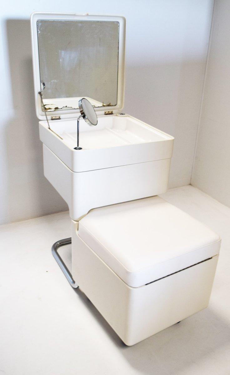 klappbarer schminktisch mit spiegel hocker 1970er bei. Black Bedroom Furniture Sets. Home Design Ideas