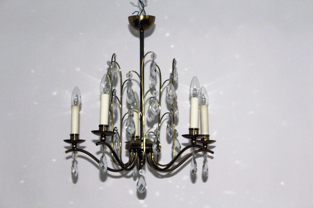 Crystal Chandelier 1950s