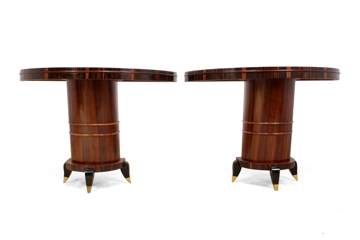 italian art deco console tables 1930s set of 2 for sale at pamono. Black Bedroom Furniture Sets. Home Design Ideas