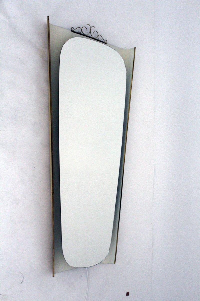 beleuchteter spiegel von nikoll 1950er bei pamono kaufen. Black Bedroom Furniture Sets. Home Design Ideas