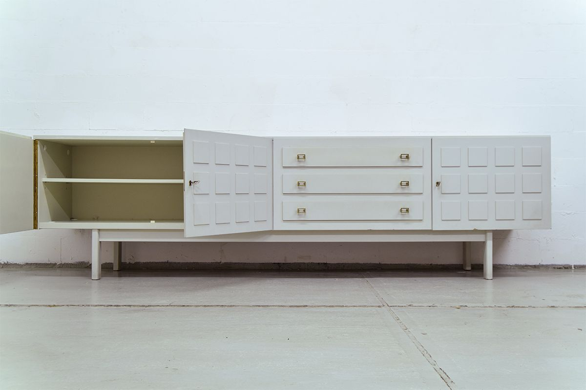 vintage light grey sideboard from musterring international for sale at pamono. Black Bedroom Furniture Sets. Home Design Ideas