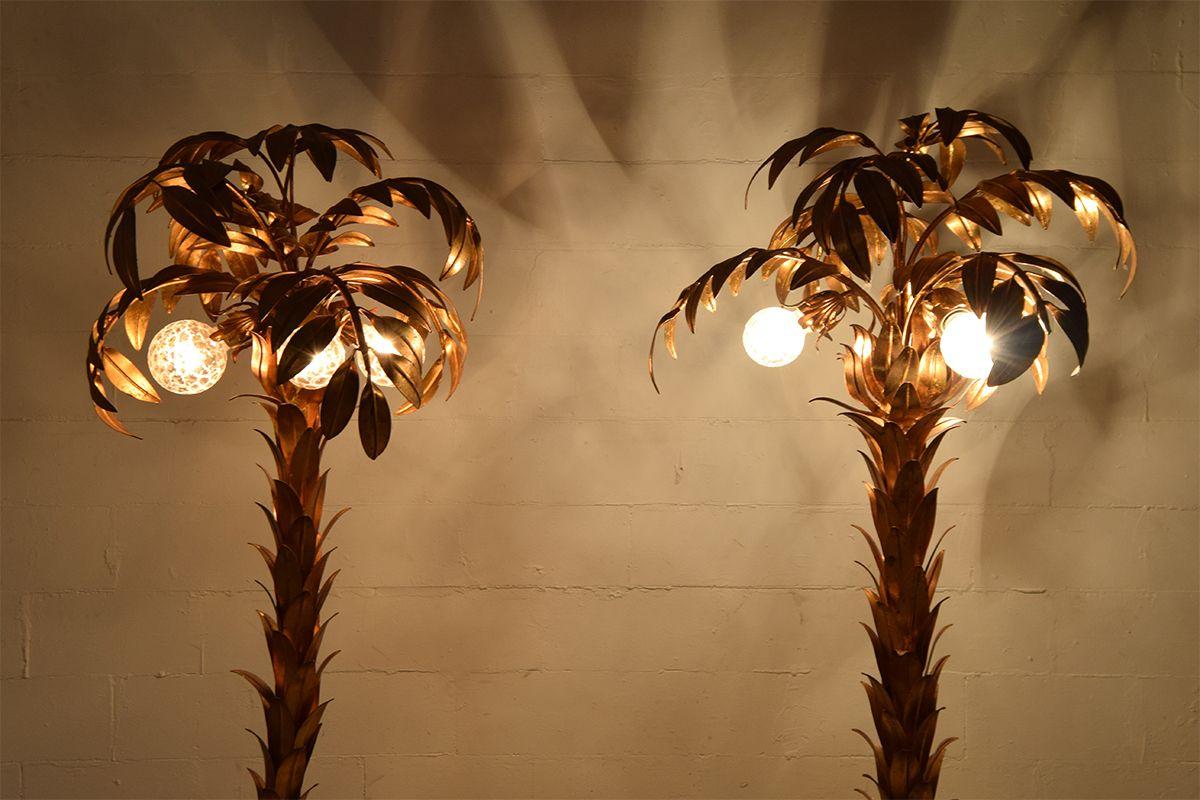 Vergoldete vintage palmen lampen von hans k gl 2er set for Lampen niederlande