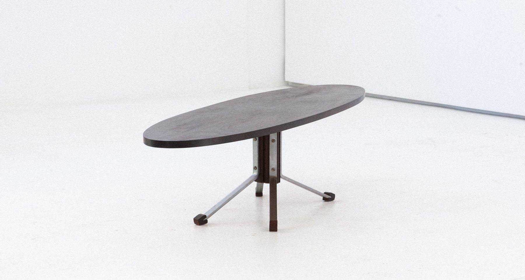 Tavolino da caff mid century ovale grande italia anni for Tavolino anni 60 design