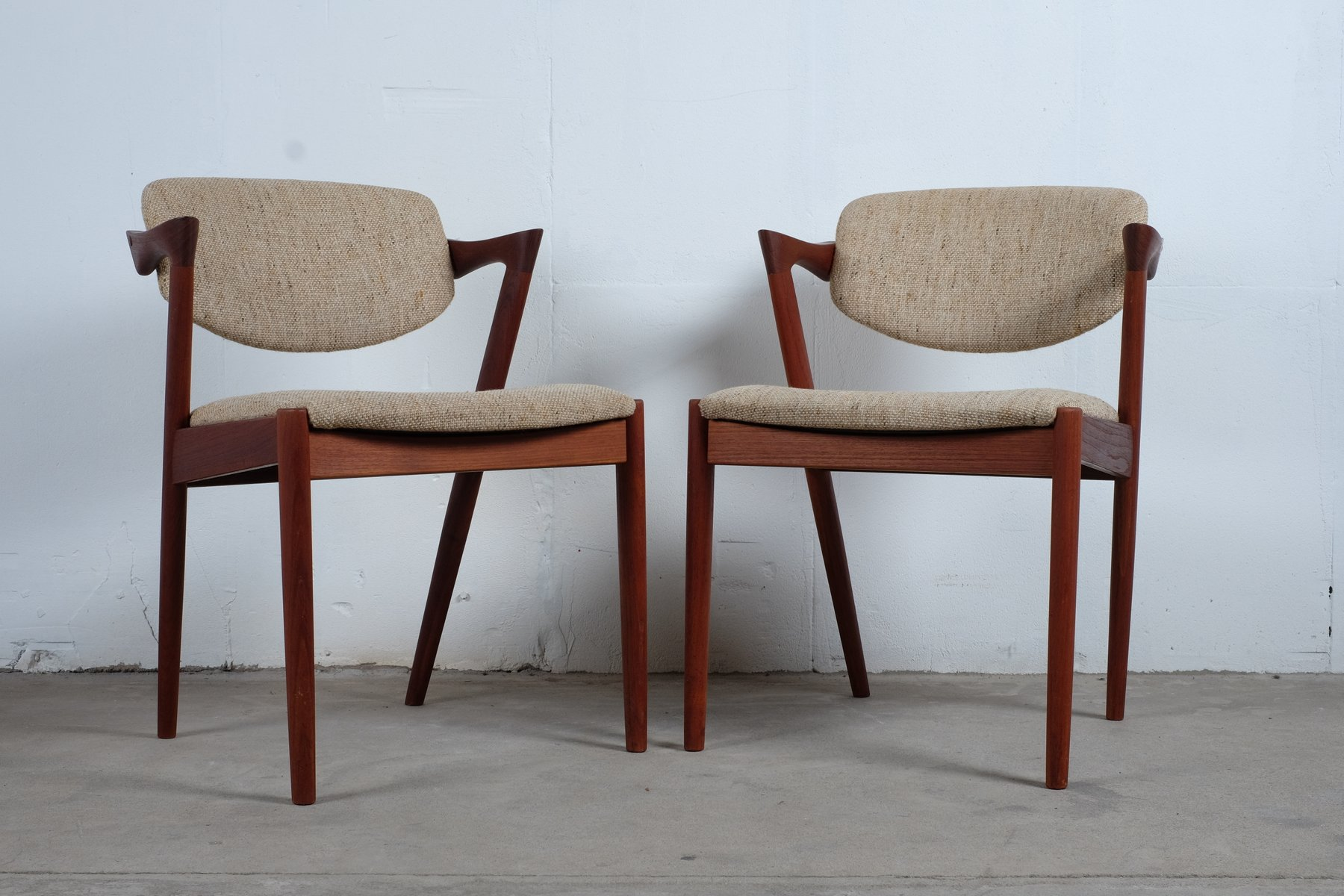 Vintage Model 42 Z Chairs By Kai Kristiansen Set Of 2 For Sale At Pamono