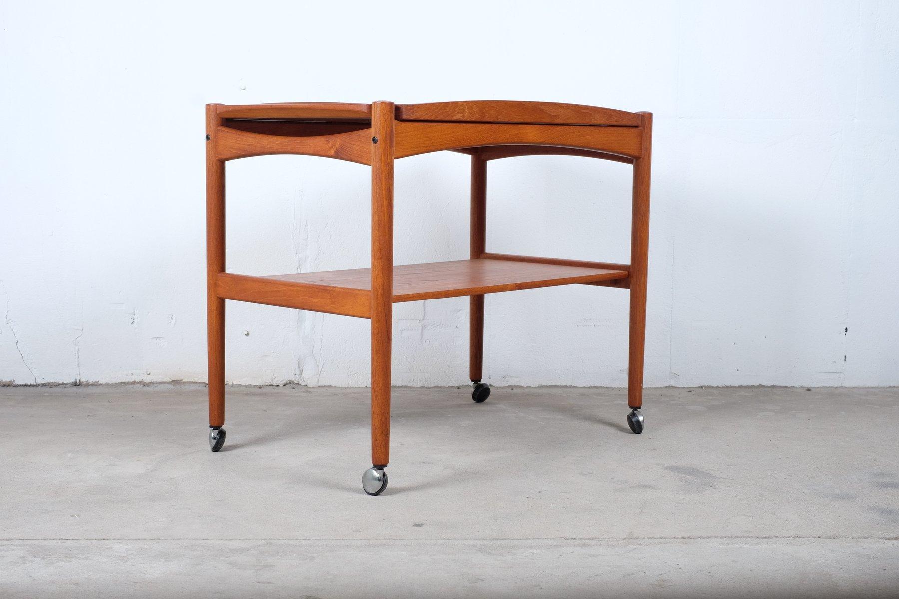 mid century bar servierwagen aus teak bei pamono kaufen. Black Bedroom Furniture Sets. Home Design Ideas